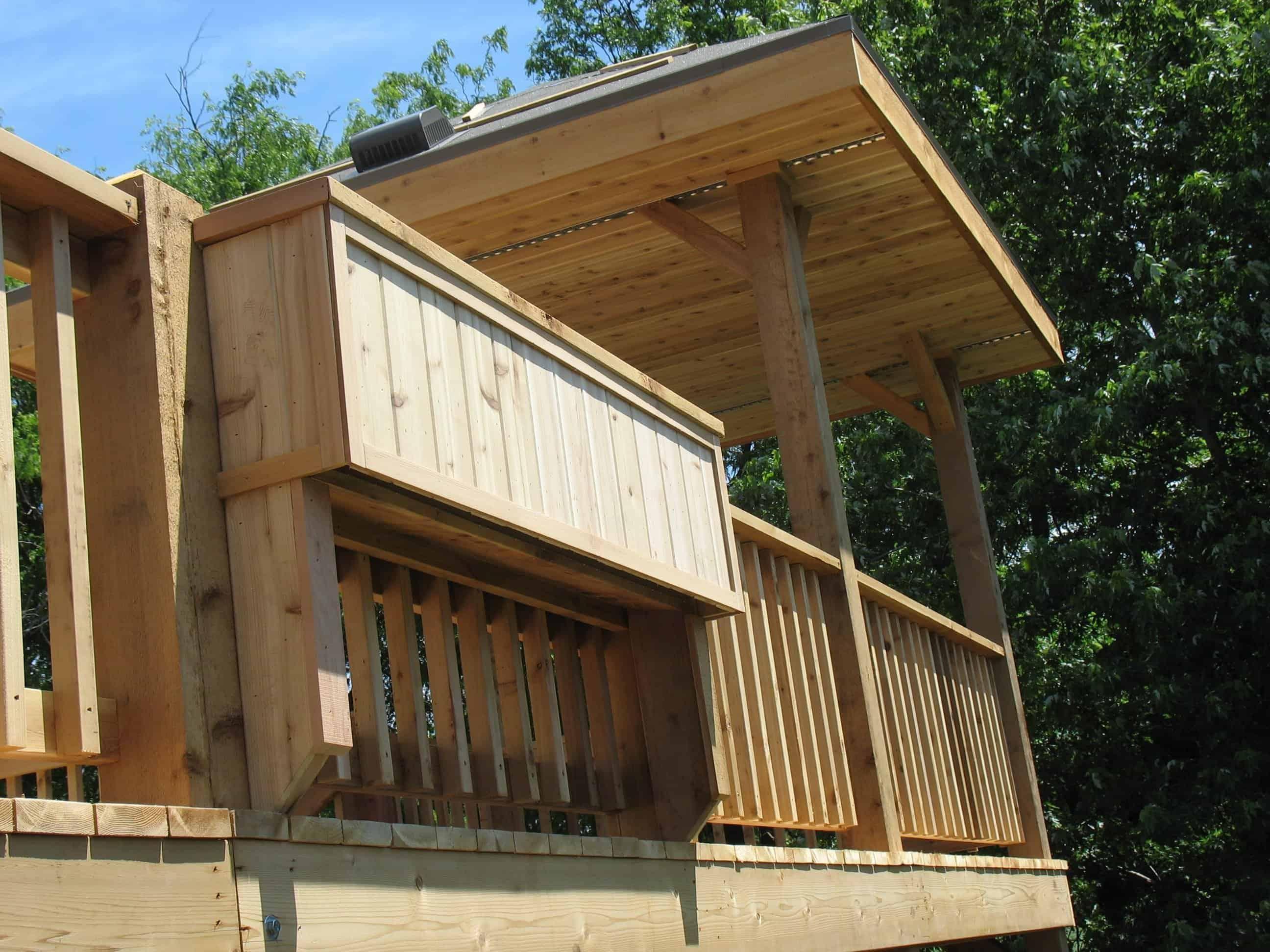 Cedar deck associated siding and remodeling omaha nebraska for Box car siding ceiling