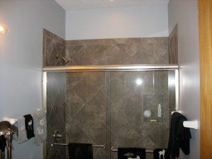Walk in Shower with Glass Doors