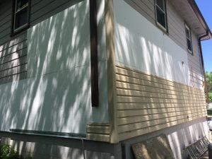 Mastic vinyl siding installation
