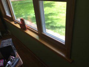 interior vinyl window trim with oak