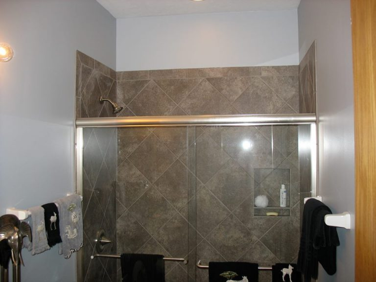 Walk in Shower with Glass Doors
