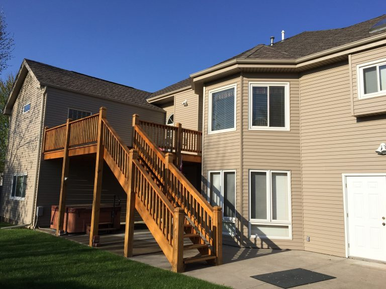Omaha Revere Steel Siding and Red Cedar Deck