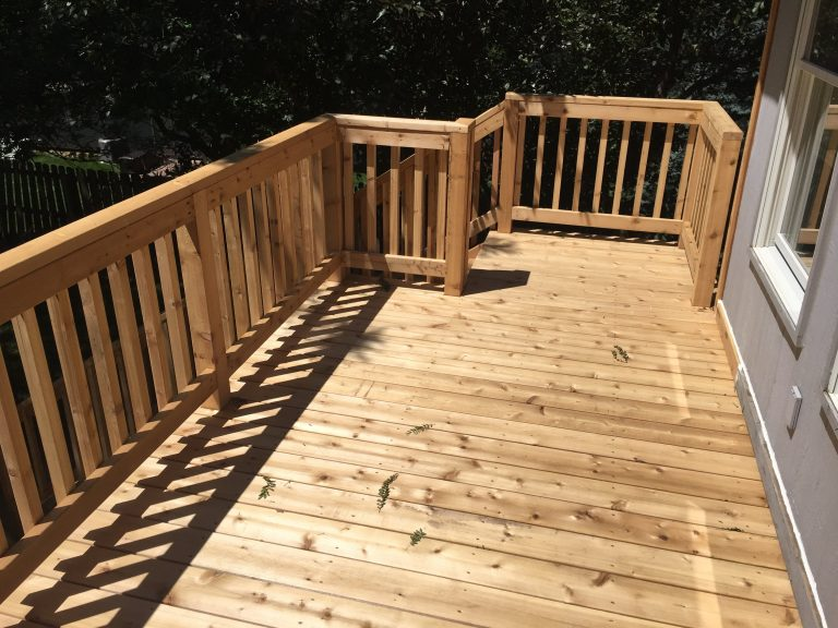 Cedar deck replacement in Omaha
