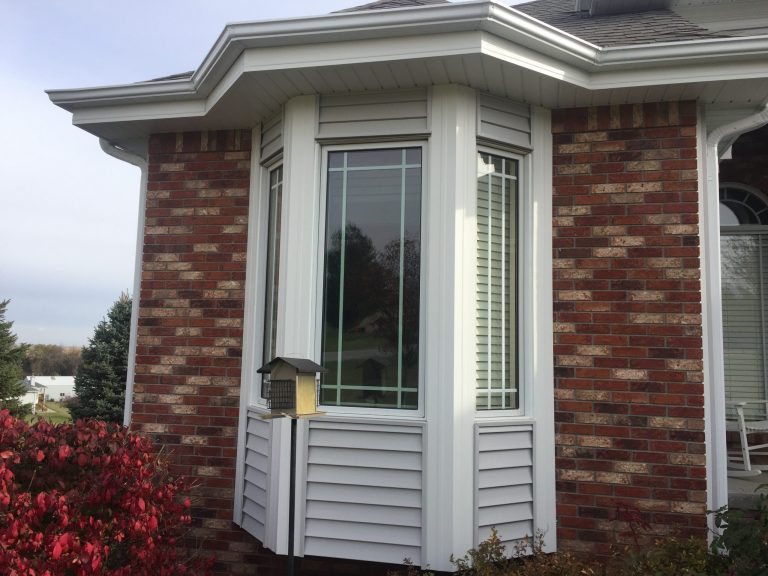 Detailed siding trim work